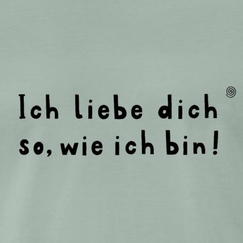 Ich liebe dich (schwarz) - Männer Premium T-Shirt