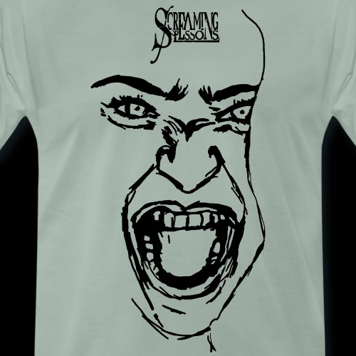 Screaming Face - Männer Premium T-Shirt