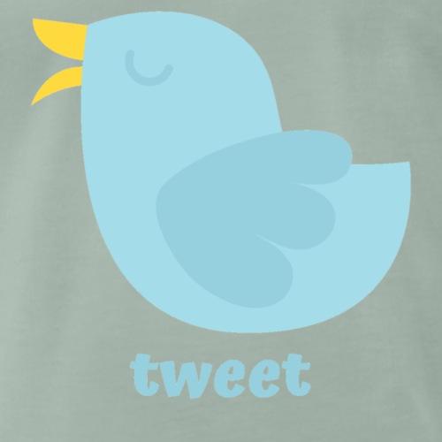 tweet - Herre premium T-shirt