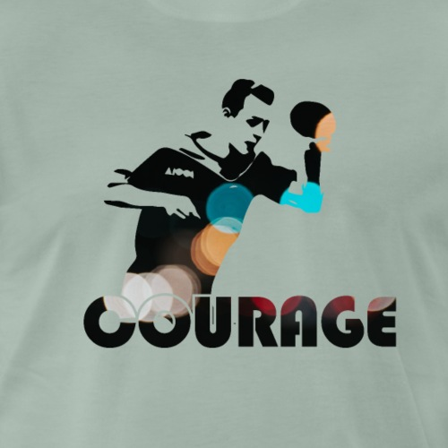 Courage to be A champion, table tennis winner - Männer Premium T-Shirt