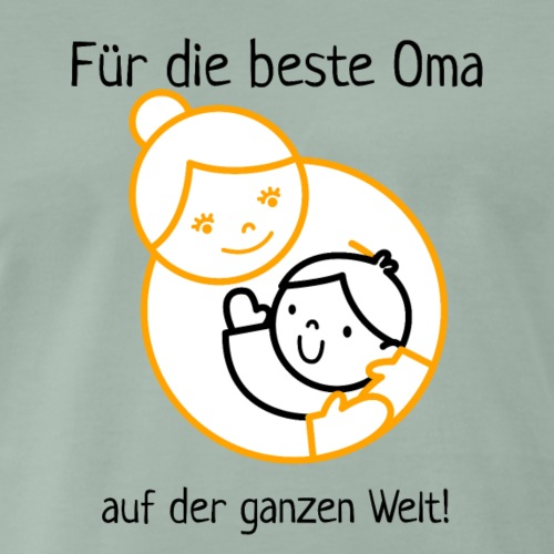 Für die beste Oma der Welt! gold schwarz - Männer Premium T-Shirt