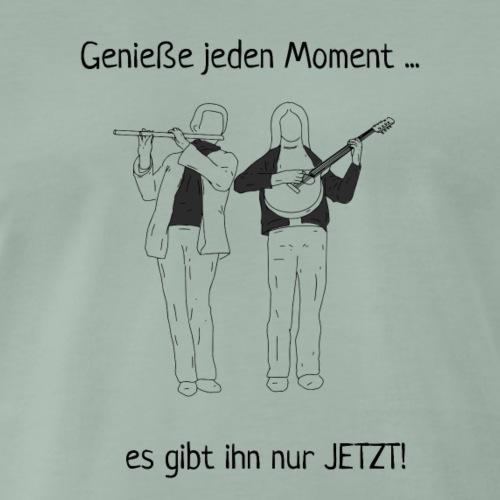 Musik genießen, den Moment genießen, Flöte, Laute - Männer Premium T-Shirt