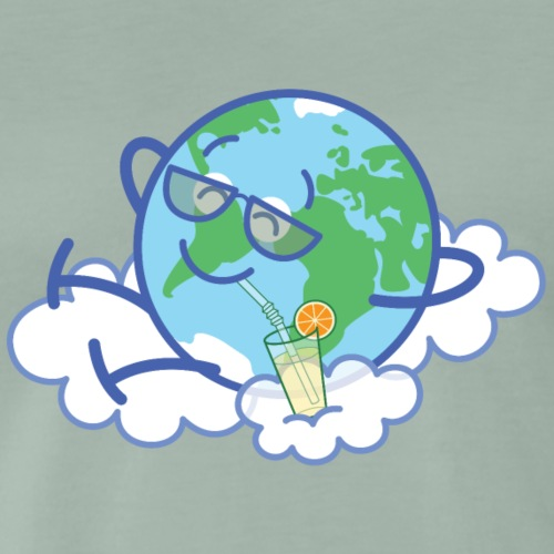Happy Planet Earth takes a well-deserved break - Men's Premium T-Shirt
