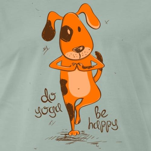 yoga dog - Männer Premium T-Shirt