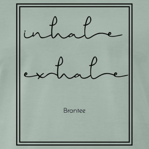 inhale exhale - Men's Premium T-Shirt