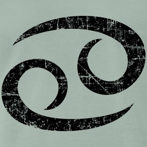 Sternzeichen Krebs (Vintage/Schwarz) - Männer Premium T-Shirt