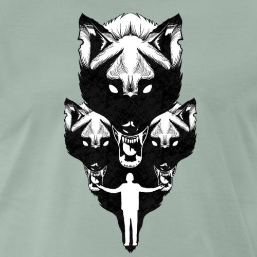 Lobos - Camiseta premium hombre
