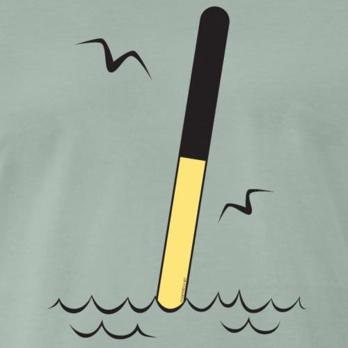 POHJOISVIITTA Merimerkit, tekstiilit ja lahjat - Miesten premium t-paita