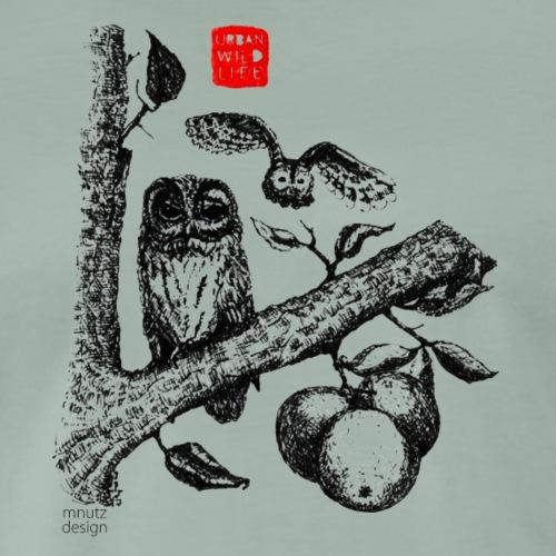 Urban Wildlife - Kauz - Männer Premium T-Shirt