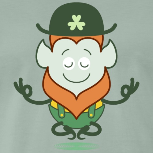 St Patrick's Day Leprechaun meditating - Men's Premium T-Shirt