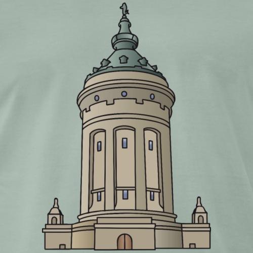Wasserturm Mannheim c - Männer Premium T-Shirt