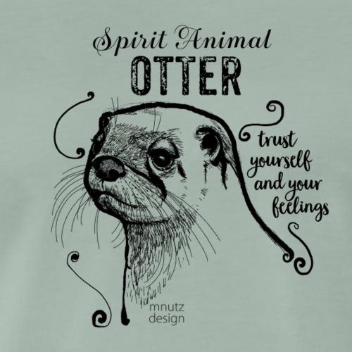 Spirit Animal Otter schwarz - Männer Premium T-Shirt