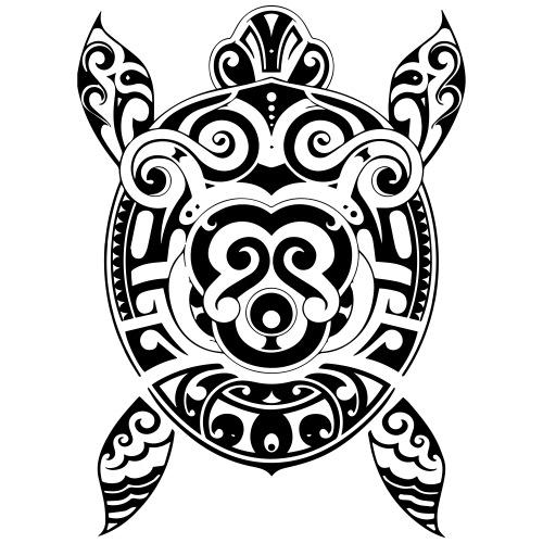 Tribal sea turtle - T-shirt Premium Homme