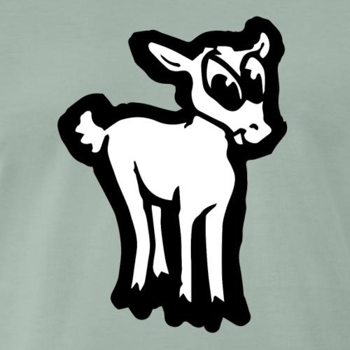 Comic Lämmchen Lustig Geschenkidee Unschuldslamm - Männer Premium T-Shirt