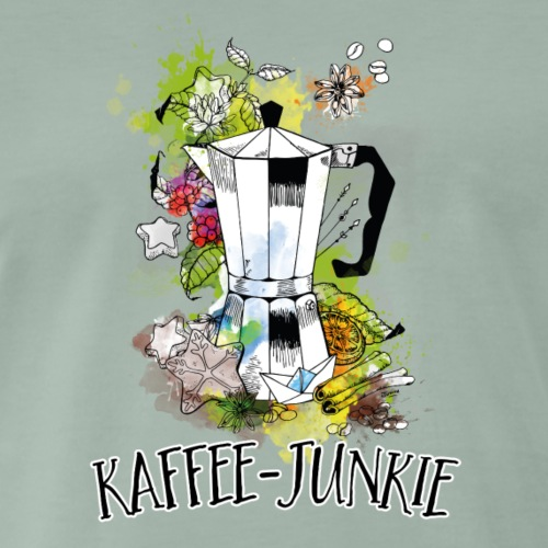 Kaffee-Junkie - Männer Premium T-Shirt