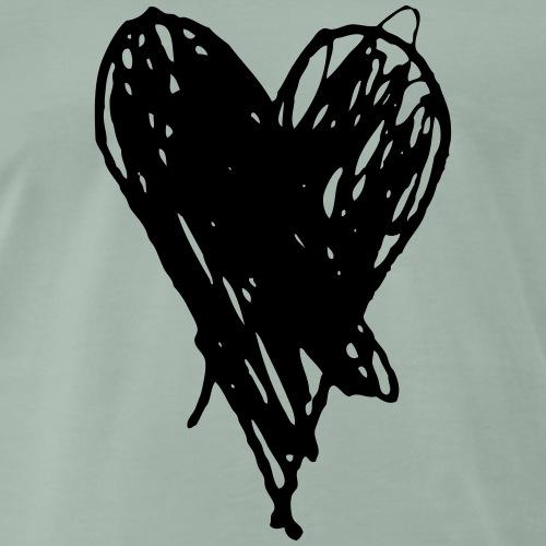 Cœur et amour pour dire je t'aime, i love you - T-shirt Premium Homme