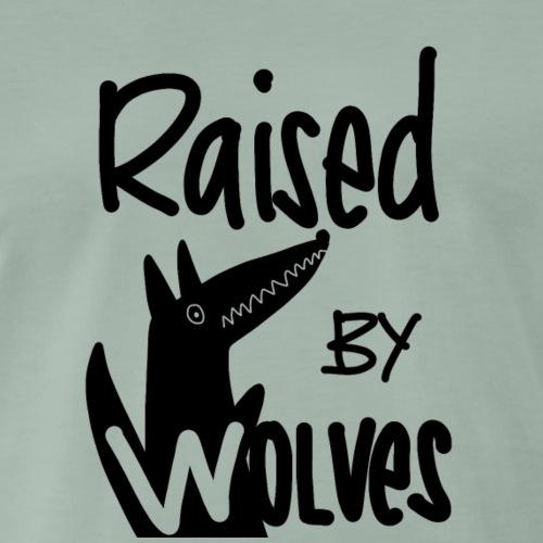 Raised by wolves - Männer Premium T-Shirt