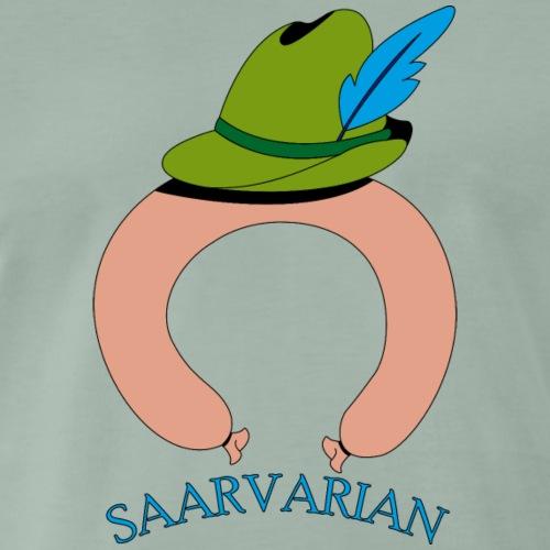 Saarvarian mit Schriftzug - Männer Premium T-Shirt