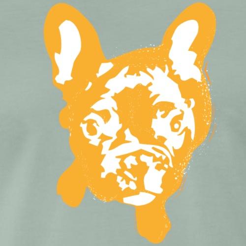 Bulldogge Beige schauend - Männer Premium T-Shirt