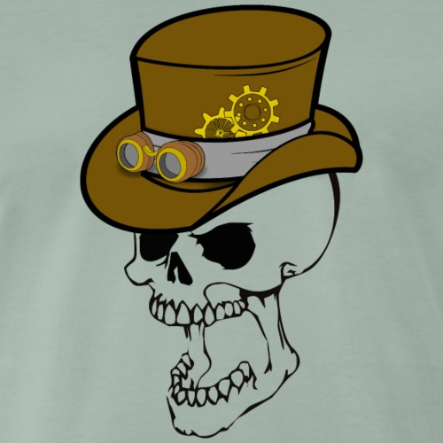 Craneo con sombrero steampunk