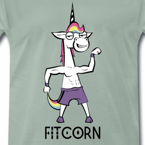 Fitcorn - das sportliche Einhorn - Männer Premium T-Shirt