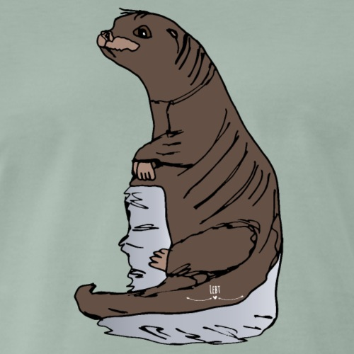 Tierisch wild- Fischotter - Männer Premium T-Shirt