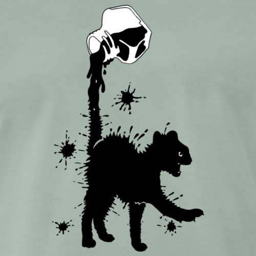 Ink black kitten / Black kitten - Men's Premium T-Shirt