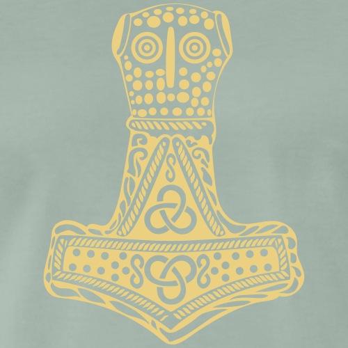 Thor Hammer Mjöllnir Mjǫllnir Malmer Blitz Dorn - Männer Premium T-Shirt