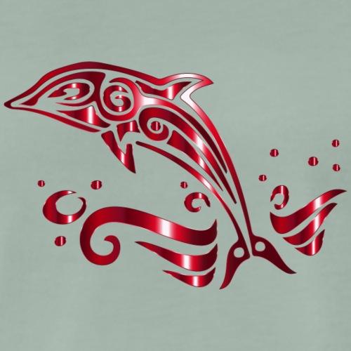 Tribal Dolfijn - Mannen Premium T-shirt