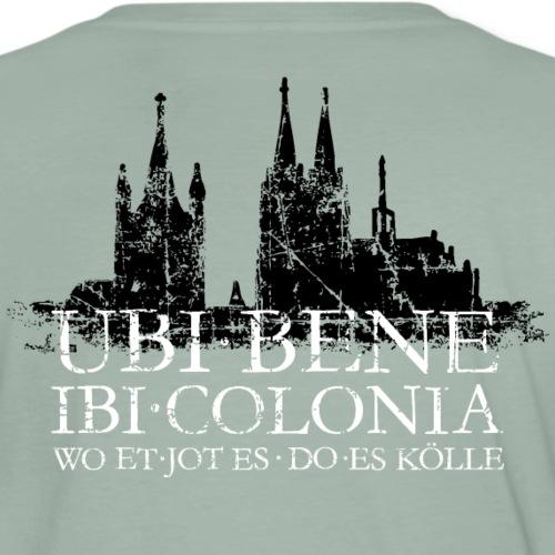 UBI BENE IBI COLONIA Köln Skyline Spruch - Männer Premium T-Shirt