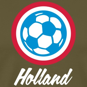 Holland Football Emblem - Premium-T-shirt herr