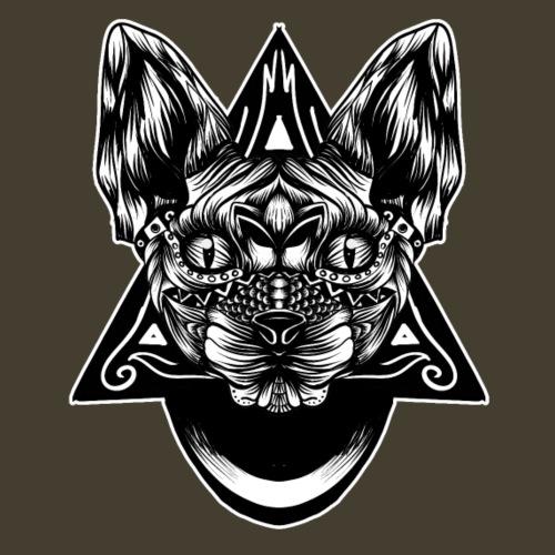 Patrón de Sphynx bw - Camiseta premium hombre