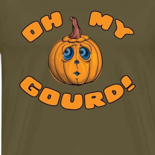 Oh My Gourd Halloween Pun - Mannen Premium T-shirt