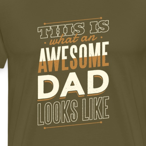 COOL AWESOME DAD - Premium-T-shirt herr