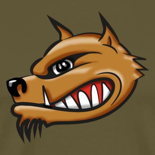Hyena cartoon airbrush - Mannen Premium T-shirt