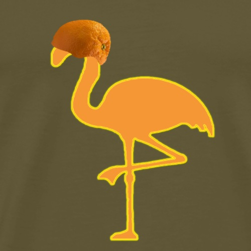 Orange Flamingo Neon - Männer Premium T-Shirt