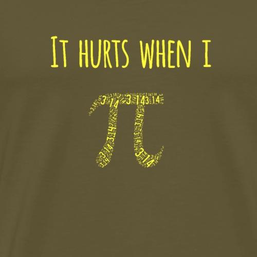 It Hurts When I Pi Shirt. Witziges Nerd Design - Männer Premium T-Shirt