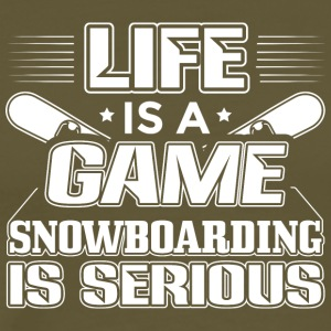 Snowboarding Life Is A Game - Snowboarding Shirt - Men's Premium T-Shirt