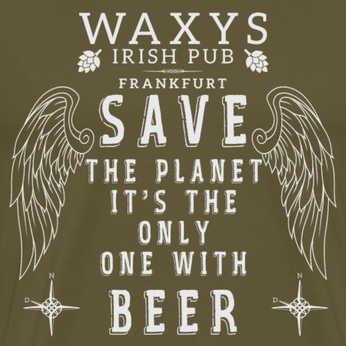 WAXYS PLANET BEER - Men's Premium T-Shirt