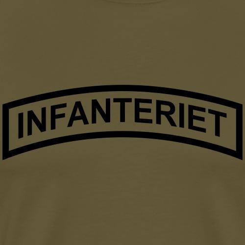 INFANTERIET enfärgad - Premium-T-shirt herr