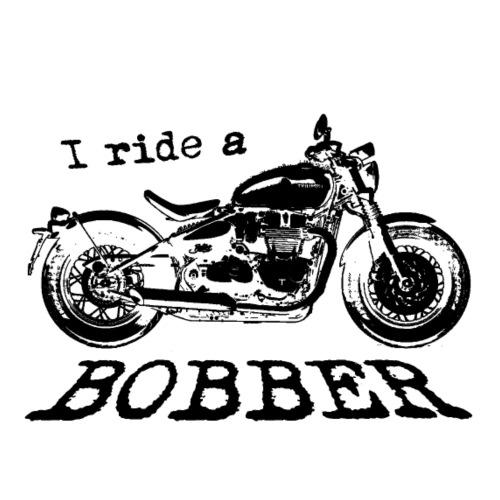 I ride a bobber - sort - Herre premium T-shirt