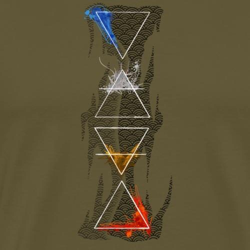 4 elements By TheRawburt & Ejum - Premium-T-shirt herr