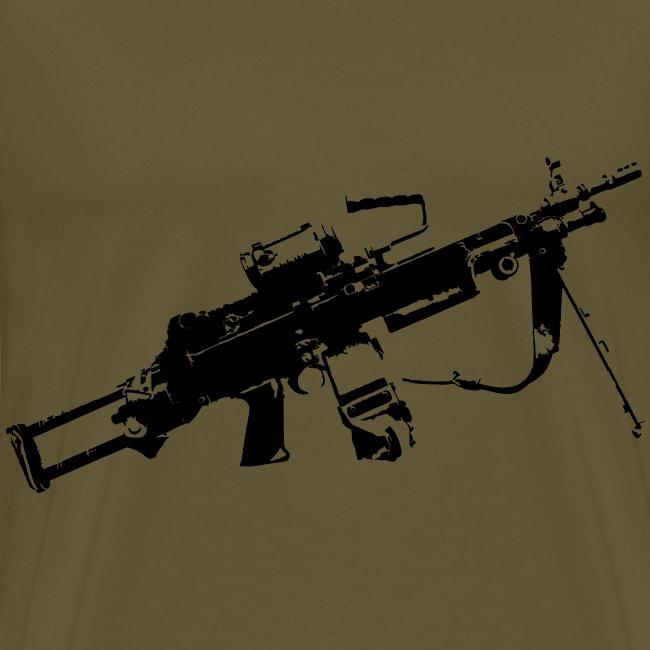 FN Minimi Para machine gun M249 SAW Kulspruta 90