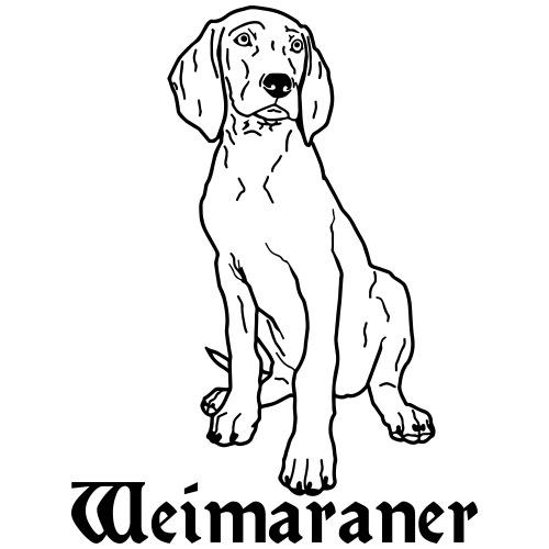 Weimaraner pup 2 - www.dog-power.nl © - Mannen Premium T-shirt