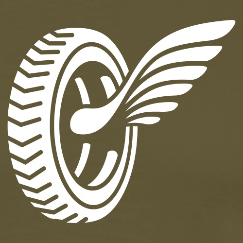 Car badge tires and wings - Men's Premium T-Shirt