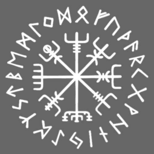 Vegvisir - hvid - Herre premium T-shirt