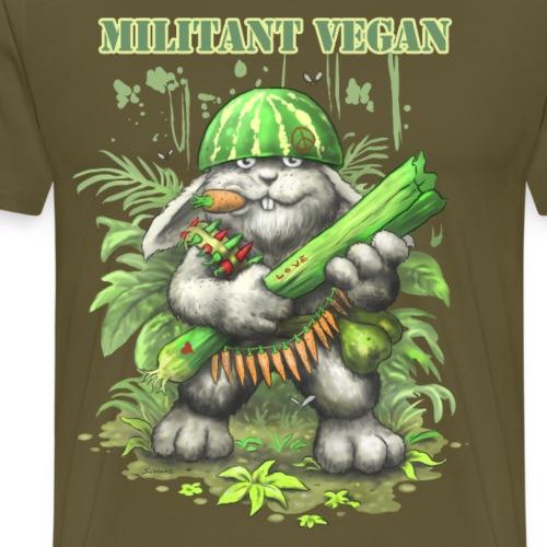 MILITANT VEGAN - Männer Premium T-Shirt