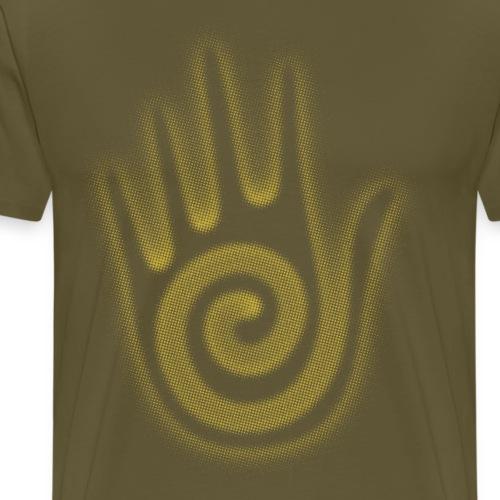 Navajo Hopi Native American Hand Spiral - Men's Premium T-Shirt