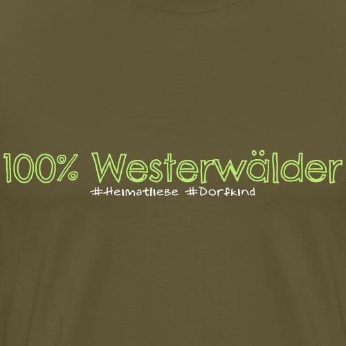 100. Kein Prozent weniger. - Männer Premium T-Shirt