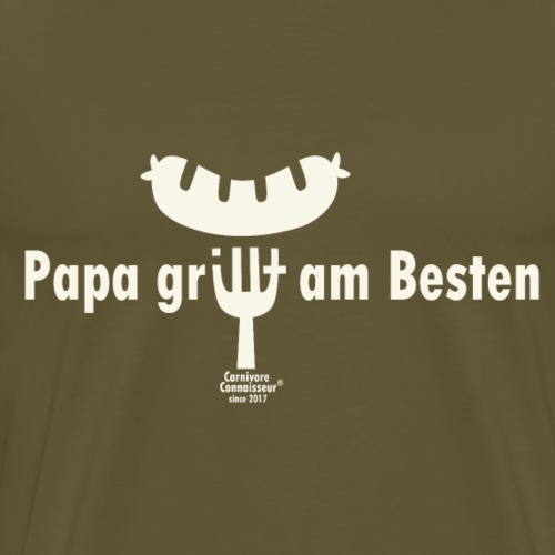 Papa grillt am besten - Männer Premium T-Shirt